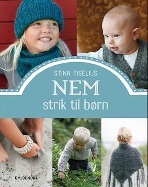 Bog, indbundet Nem strik til børn af Stina Tiselius
