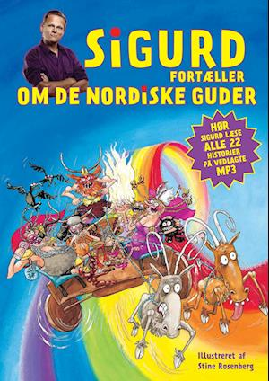Bog, indbundet Sigurd fortæller om de nordiske guder af Sigurd Barett