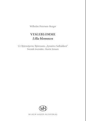 Vesleblomme af Wilhelm Peterson-Berger