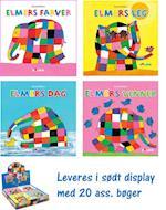 Elmer papbøger 1-4 (display med 20 ass.) af David McKee