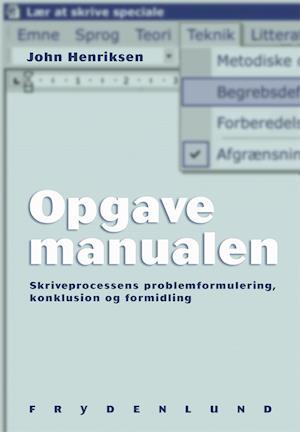 Opgavemanualen af John Henriksen