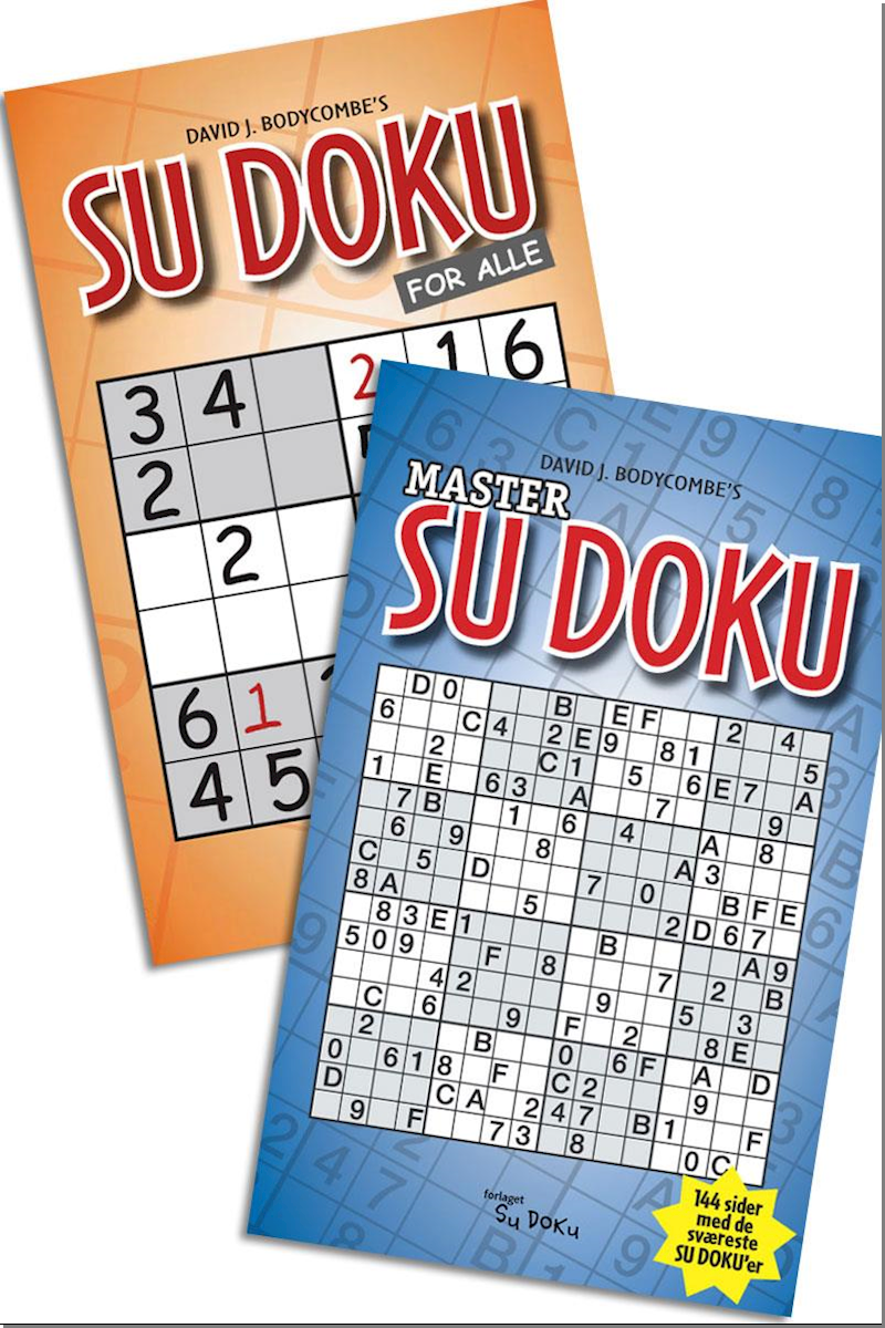 SAMPAK. SUDOKU FOR ALLE + MASTER..  SUDO