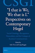 I That Is We, We That Is I (Critical Studies in German Idealism)