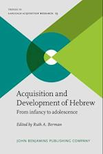 Acquisition and Development of Hebrew (Trends in Language Acquisition Research)