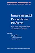 Inner-Sentential Propositional Proforms (LINGUISTIK AKTUELL / LINGUISTICS TODAY, nr. 232)