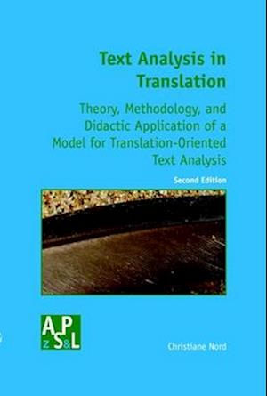 Bog, paperback Text Analysis in Translation af Christiane Nord