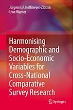 Harmonising Demographic and Socio-Economic Variables for Cross-National Comparative Survey Research af Uwe Warner