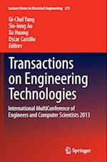 Transactions on Engineering Technologies (Lecture Notes in Electrical Engineering, nr. 275)