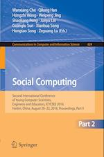 Social Computing (Communications in Computer and Information Science, nr. 624)